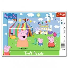 Пазл рамочный Свинка Пеппа в парке 15 эл