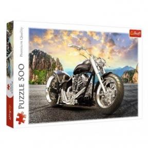 Пазл Черный мотоцикл 500 эл