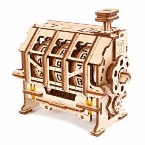 3D Пазлы Механическая модель STEM Счетчик Ugears