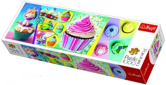 Пазл Цветные пирожные 1000 эл панорамный