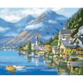 Картина по номерам Австрийский пейзаж 40 х 50 см КНО2143 Идейка