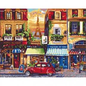 Картины по номерам Улицами Парижа 40 х 50 см КНО2189 Идейка