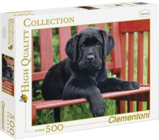 Пазл Черный щенок 500 эл