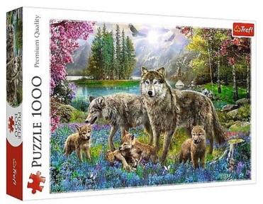 Пазл Волчья семья 1000 эл