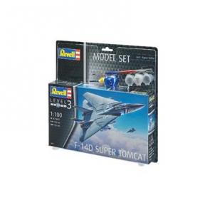 Сборная модель копия Revell набор Истребитель F-14D Томкэт уровень 3 масштаб 1:100