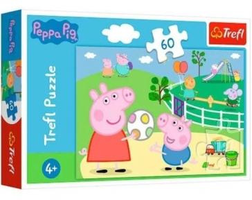 Пазл Свинка Пеппа детская площадка 60 эл Trefl