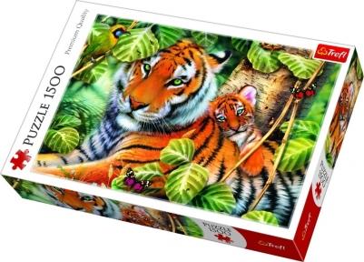 Пазл Тигры большой и маленький 1500 эл
