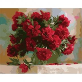 Картина по номерам Красные пионы 50 х 40 см КНО1133 Идейка