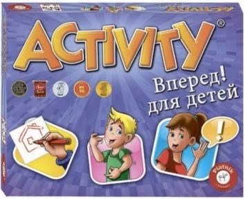 Активити, Вперед! Для детей, настольная игра, Piatnik