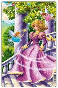 Пазл рамка-вкладыш LARSEN Принцесса в розовом, серия МИДИ