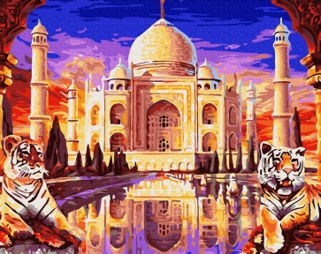 Картина по номерам Тадж-Махал з охраной 40 х 50 см Brushme