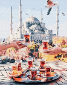 Картина по номерам Чаепитие в Стамбуле 50 х 40 см Brushme