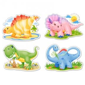 Пазл 4 в 1 Динозаврики 4,5,6,7 эл