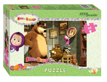 Пазл Маша и медведь Офрмление комнаты 54 эл