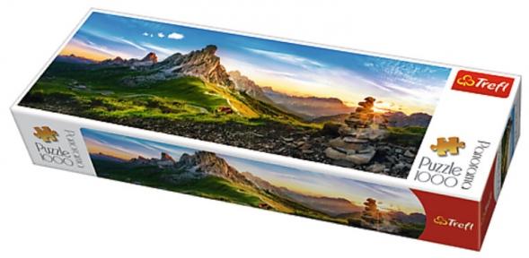 Пазл Перевал Пассо Джау в Доломитах 1000 эл панорамный
