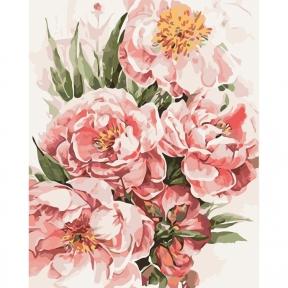 Картины по номерам Пионы для любимой 40 х 50 см КНО3046 Идейка