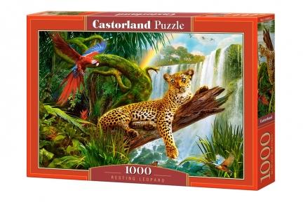 Пазл Леопард на отдыхе 1000 эл
