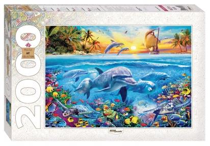 Пазл Дельфины 2000 эл