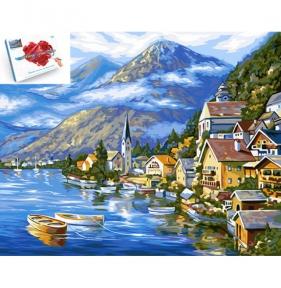 Картина по номерам Австрийский пейзаж 40 х 50 см Danko