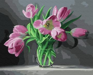 Картина по номерам Тюльпаны 50 х 40 см Brushme