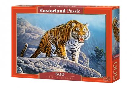 Пазл Тигр на скале 500 эл
