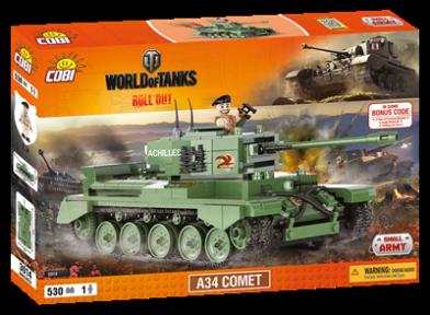 Конструктор COBI Word Of Tanks A34 Комета, 530 дет