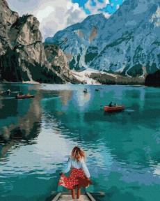 Картина по номерам Путешественница у озера Брайес 50 х 40 см Brushme