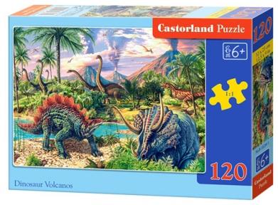 Пазл Вулкан динозавров 120 эл