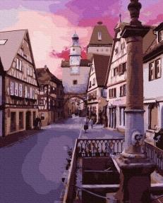 Картина по номерам Город на восходе солнца 40 х 50 см Brushme
