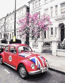 Картина по номерам Британское авто 40 х 50 см Brushme