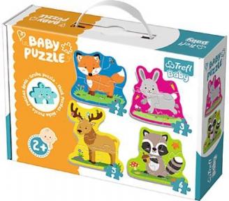 Пазлы для малышей 4 в 1 Лесные животные серия Baby Classic