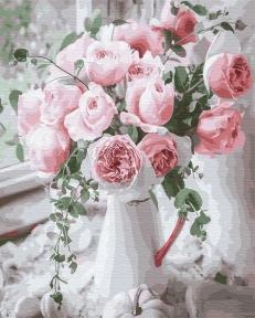 Картина по номерам Букет нежных роз 40 х 50 см Brushme