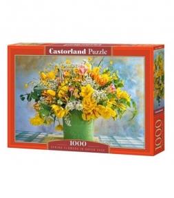Пазл Весенние цветы в зеленой вазе 1000 эл