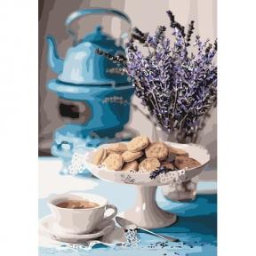 Картина по номерам Лавандовое чаепитие 35 х 50 см КНО5558 Идейка