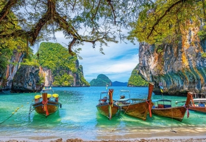 Пазл Таиланд Лодки 1500 эл