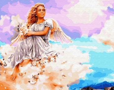 Картина по номерам Ангел на облаке 50 х 40 см Brushme