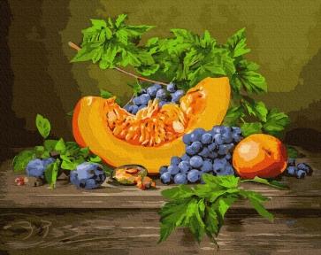Картина по номерам Дыня с виноградом 40 х 50 см Brushme