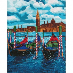 Картина по номерам Венецианское такси 40 х 50 см КНО2749 Идейка