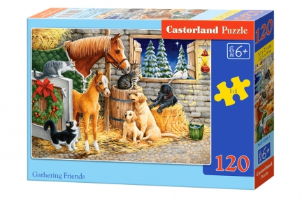 Пазл Рождество на ферме 120 эл