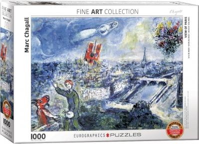 Пазл Eurographics Вид на Париж Марк Шагал 1000 эл 6000-0850