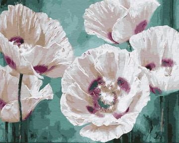 Картина по номерам Белые маки 40 х 50 см Brushme