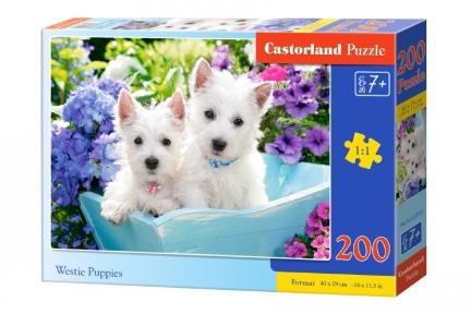 Пазл Белые щенки 200 эл