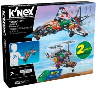 Турбореактивный самолет 2 в 1 (402 детали), набор для конструирования, K`nex