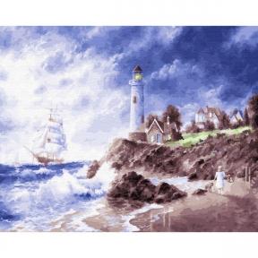 Картина по номерам Маяк на острове 50 х 40 см Brushme