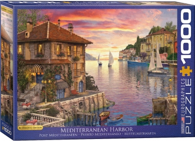 Пазл Eurographics Средиземноморская гавань Доминик Дэвисон 1000 эл 6000-0962