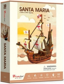 Трехмерная головоломка-конструктор Санта Мария, CubicFun
