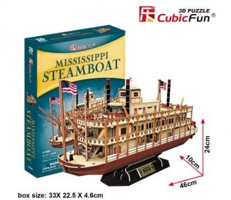 Пароход Миссисипи 3D модель из картона, Cubic Fun