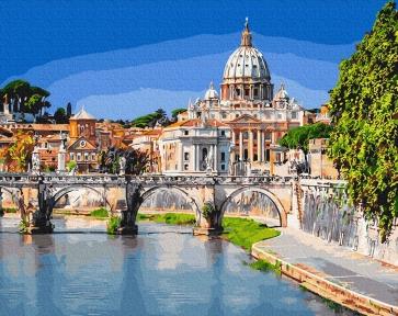 Картина по номерам Базилика Святого Петра 40 х 50 см Brushme