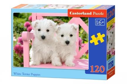 Пазл Два белых щенка 120 эл