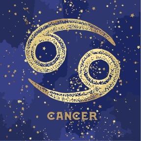 Картина по номерам Знак зодиака Рак с краской металлик 50 х 50 см КН9517 Идейка